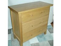 MORRIS of GLASGOW CHEST OF DRAWERS 3 DRAWERS poss OAK