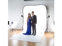 Lastolite Hilite Collapsible Backdrop with train