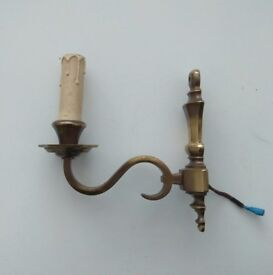 Antique Candle Wall Sconce Brass - Shaded Brass!