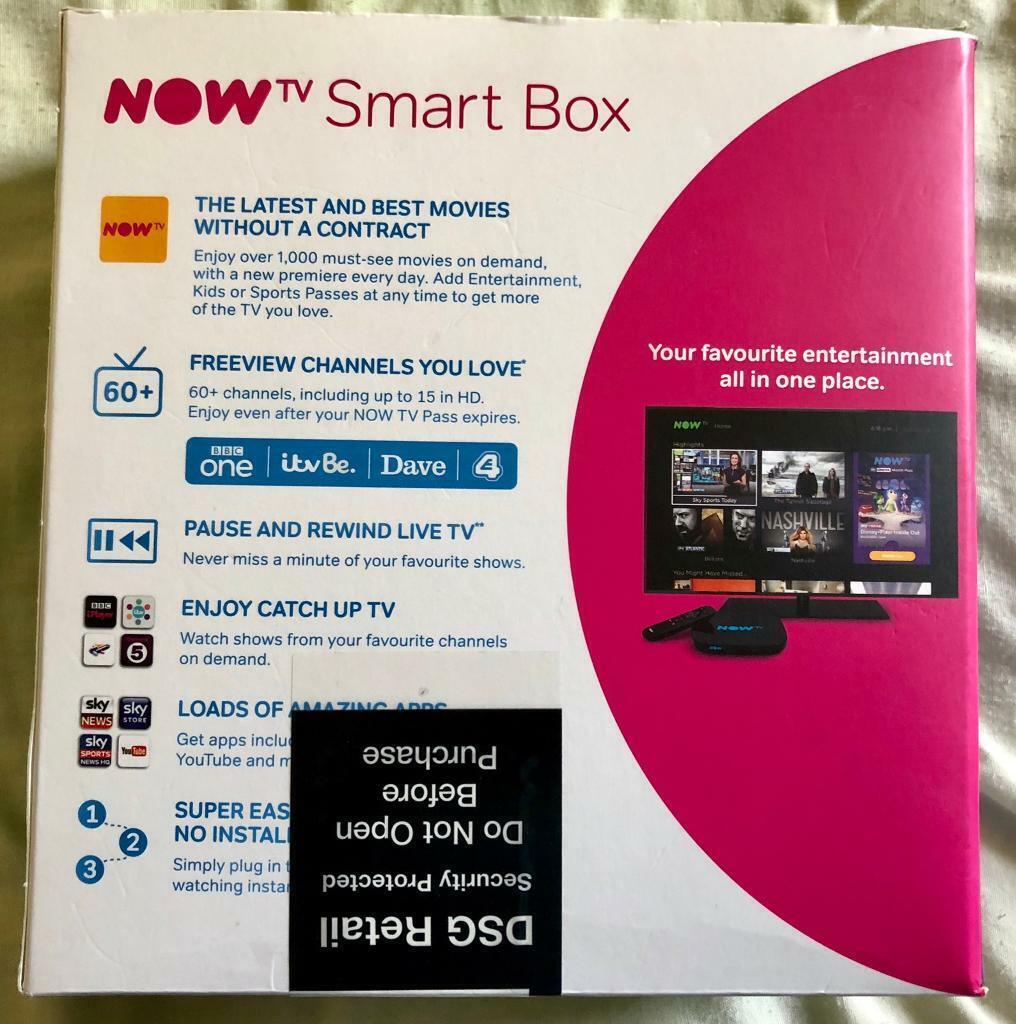 Now TV HD Smart Box + Sky Sports 1 Month Pass @ 46   in Sydenham, London    Gumtree