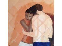 *New* Original acrylic painting on 90x90cm canvas