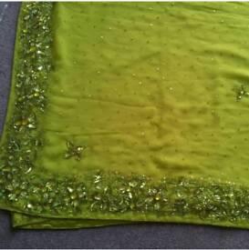 New lime green asian saree