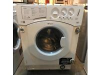 HOTPOINT BHWD129 NEW MODEL INTEGRATOR WASHER & DRYER 3 MONTH WARRANTY, FREE INSTALLATION