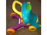 Playskool 2-in-1 Step Start Walk 'n Ride Walker