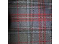 Men's Kilt Outfit - Modern Grey Stewart tartan - Worn once only