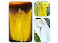 EID SALE - NEW Dubai Arabic Kaftan Farasha Abaya Evening/Wedding Butterfly Dress