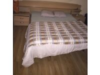 Double bed with matrass