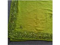 Brand New lime green asian saree