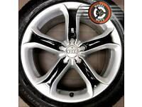 "17"" Genuine Techniks alloys Audi A4/A5 refurb silver/black excel premium tyres."