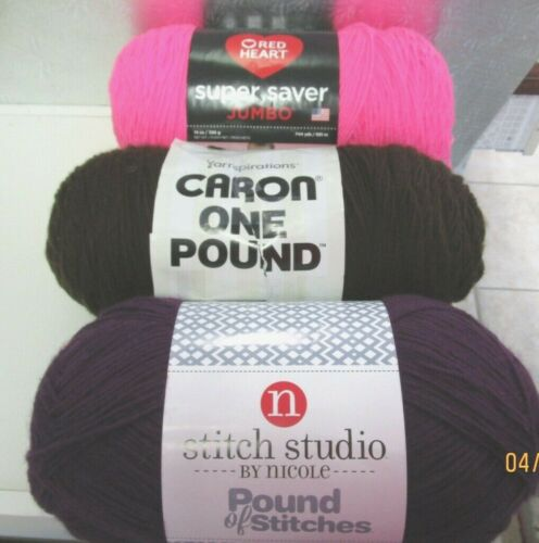 YARN ...ASSORTED BRANDS AND COLORS