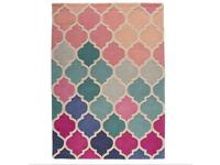 NEW Isere Rosella Pink / Blue Area Rug 120cm - 170cm ( ACCEPTING OFFERS )