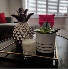 Decorative silver pineapple