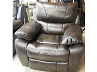 2 Faux brown electric reclining chairs purchased from Harveys