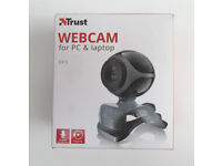 Trust EXIS webcam for PC and laptop (new in box)