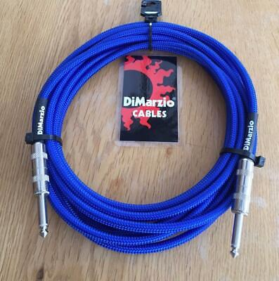 Dimarzio BLACK 4.57m  Quality Instrument Cable USA Made Angled /& Straight Ends