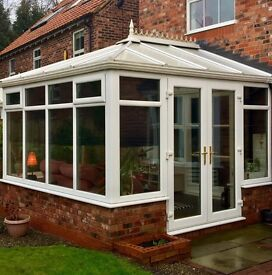 Beautiful White UPVC Conservatory For Sale. 3m x 3m. All Blinds Included. Needs To Be Dismantled.