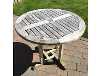 GARDEN PATIO TABLE solid teak OUTDOOR USE ALL YEAR ROUND great condition STURDY DESIGN