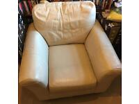 Free - Cream Leather Chair