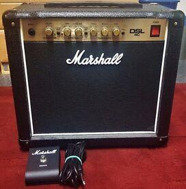 Marshall DSL5C, 5W 1x10 Combo All-Valve Guitar Amplifier.