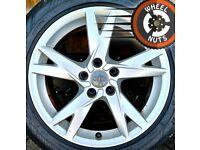 "17"" Genuine Audi A4 alloys Renault Trafic Vivaro perf cond Michelin tyres."