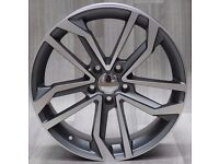 "18""RS6 Concept Style Alloy wheels & Tyres A4, A3 MK2 MK3 VW Passat, Jetta, Golf MK5, MK6, MK7, Caddy"