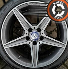 """18"""" Genuine Mercedes AMG C Class alloys excel cond excel tyres."""