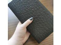 Osprey Dark Brown Croc Leather Travel Wallet