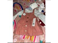 Baby dress and coat