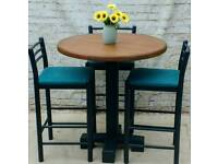 Round breakfast bar / dining table and stools