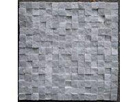 Cube Grey Mosaic Tiles 30x30cm Sheet - Price Per Sheet