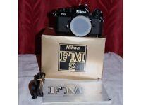 Nikon FM2n film camera black brand new unused boxed