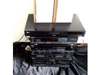 JOB LOT of HIFI,SONY COMBO,CAMBRIDGE-AUDIO,LG,ELTAX etc (full sys & DVD-RECORDERs speakers,MD etc)PX