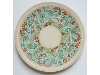Vintage Large Serving Dish / Plate / Charger Woods Ivory Ware Paisley Pattern Centrepiece