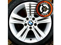 "17"" Genuine BMW 3 Series alloys Renault Trafic Vauxhall Vivaro excel cond match tyres."