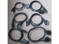 Scart Leads, Co-axial cables and Scart splitters
