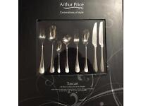Arthur Price Tuscan 44-Piece 6 Person Cutlery Set rrp 259
