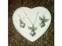Necklace, earring sets.