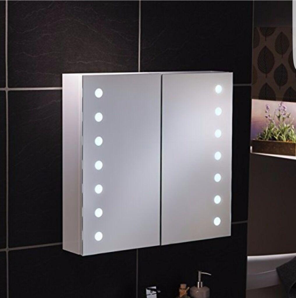 Bathroom Cabinets Gumtree new mirror bathroom cabinet with sensor light and 2 shaver