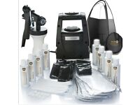 BRAND NEW!! TS20 HVLP Airbrush Spray Tan Kit with machine, Tent, Tans, & Tanning accessories