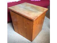 Solid pine storage box / toy box / blanket box