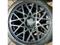 """18"""" dare rotiform style alloy wheels with good tyres 5x112"""