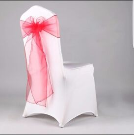 Wedding Chair Covers 70p to hire!! Across London, decorations, spandex, white, linens and sashes!!!!