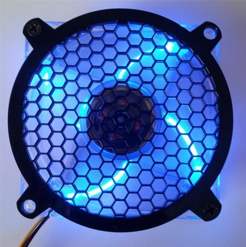 Custom 80mm HONEYCOMB Computer Fan Grill Gloss Black Acrylic Cooling Cover Mod