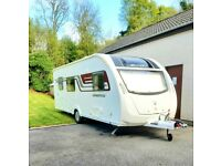 *Stunning* 2015 Swift Sprite 6 berth, mover, solar panel, awning, fsh. Immaculate six berth model.