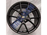 BB3* 4X NEW ALLOY WHEELS 18 INCH ALLOYS SATIN BLACK 5X112 BBS STYLE AUDI VW SEAT SKODA MERCEDES