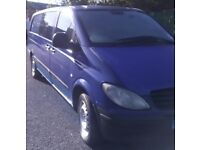 Vito xlwb crew van 3 seats in the back 7 months mot good condition drives great may take part X