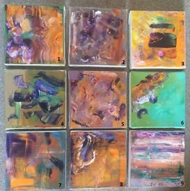 Mini abstract paintings (hand painted) frame