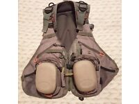 Airflo Outlander Fly Vest, Fly Fishing, Fly reel compartments, Used.