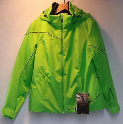 Project Athletic Fit Jacket - Spyder Women's Project Athletic Fit Snow Ski Winter Jacket Green Flash 12 NEW