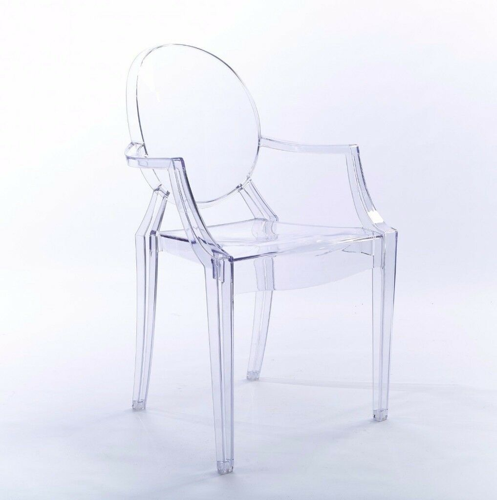 Louis Ghost Arm Chair Transparent Clear